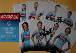 CYCLISME: CYCLISTE : EQUIPE FEMININE BINGOAL CHEVALMEIRE 2021 OFFICIELLE COMPLETE - Cycling