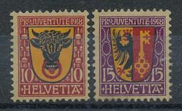 Suisse  N°168 Et 169* Pro Juventute - Neufs