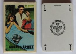 Jeu De 32 Cartes Vintage Publicitaire Lestra Sport Sac De Couchage - Unclassified