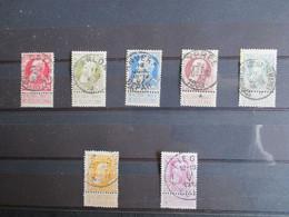 Nr 74/80 - Grove Baard - Uitgezochte Stempels - O.a. Ostende, Arlon, Ypres - 1905 Grove Baard