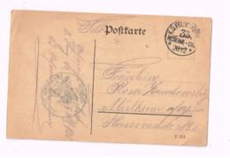Feldpostkarte.Expédié De 35. Reserve Division à Mülheim Am Rhein. - Lettres & Documents