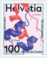 SWITZERLAND, 2021, MNH, MEDICINE, HEALTH, 100 YEARS OF INSULIN, 1v - Médecine
