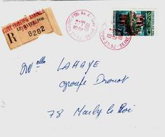 LE HAVRE PRINCIPA ANNEXE A 76 Seine Maritime Lettre Recommandée 2,30 F Château De Val Yv 1506 Ob ROUGE 1968 - Bolli Manuali