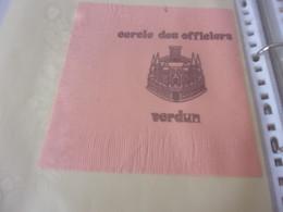 SERVIETTE PUBLICITAIRE  CERCLE  DES OFFICIERS VERDUN - Company Logo Napkins