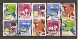 Belgique 2010 - Party - Années Sixties -série Complète De Carnet - Petit Lot De 10 Timbres Différents° - Used Stamps
