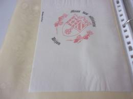 SERVIETTE PUBLICITAIRE   MESS DES OFFICERS DIJON - Company Logo Napkins
