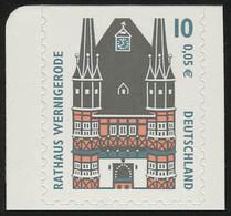 2187BC SWK 10 Pf/0,05 Euro Oben Geschnitten Sk Rathaus Wernigerode, ** - Ohne Zuordnung