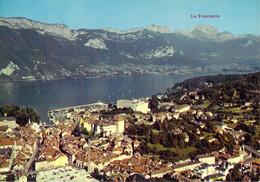 74 - Annecy - Prespective Aérienne Sur Le Lac, La Vieille Ville, Le Mont Veyrier, Menthon Saint Bernard, La Tournette - Annecy