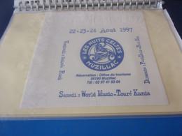 SERVIETTE PUBLICITAIRE    22 23 24  AOUT 1997 LES NUITS CELTES  MUZILLAC 56100   RARE - Company Logo Napkins
