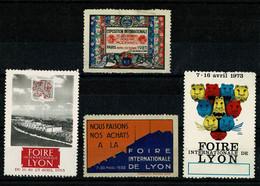 Erinnophilie  LYON Rhône Lot De 4 Vignettes Diverses  2 Scan - Andere
