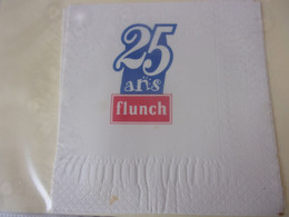 SERVIETTE PUBLICITAIRE    25 ANS DE FLUNCH - Company Logo Napkins