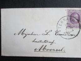 Nr 198 - Houyoux - Op Naamkaartje Uit Ternath Naar Moorsel - 1922-1927 Houyoux