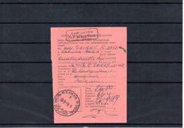 CONGO - RECEPISSE KAMINA BASE MILITAIRE 2B - Gff Encadrée PAR AVION PER VLIEGTUIG  - AM04 - Correo Aéreo: Cartas