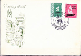 """DDR GDR RDA - Leipziger Messe (MiNr: 536/7) 1956 - FDC  SSt. Leipzig C 1 """"Leipziger Messe Von Weltbedeutung"""" - FDC: Sobres"""