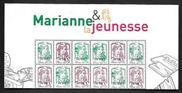 Fg274  France Haut De Feuillet N°4774B Marianne De La Jeunesse Surchargé N++ - Neufs