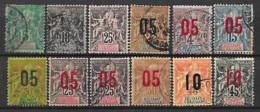 Sultanat D'Anjouan 12 Timbres Oblitérés - Used Stamps