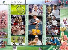 Moldova 2020, Famous Sportsmen - Tennis Winners, Sheetlet Of 12v - Moldawien (Moldau)