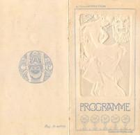 """SUPERBE PROGRAMME - COMEDIE FRANCAISE - """"LE MARQUIS DE VILLEMER"""" De George SAND - 1906 - GAUFFRE ART NOUVEAU - Programs"""