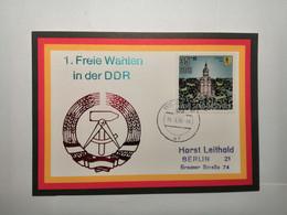 DDR Postkarte 1990 Freie Wahlen In Der DDR - Covers & Documents