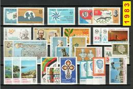 TURCHIA 1983 Annata COMPLETA Valori Nuovi 45 Fbolli + 1 Foglietto - Annate Complete