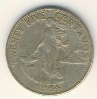 PHILIPPINES 1964: 25 Centavos, KM 189 - Philippines