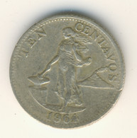 PHILIPPINES 1964: 10 Centavos, KM 188 - Philippines