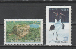 FRANCE / 2013 / Y&T SERVICE N° 157/158 ** : UNESCO (Grue Du Japon & Site De Sigiriya Au Sri Lanka) X 1 - Nuovi