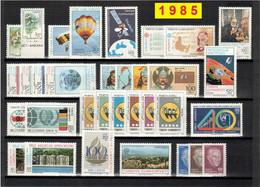 TURCHIA 1985 Annata COMPLETA Valori Nuovi 33 Fbolli + 1 Foglietto - Annate Complete