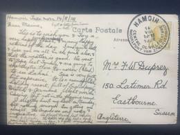 BELGIUM 1928 With Hamoir Handstamp: `Centre De Villegiature` - Covers & Documents