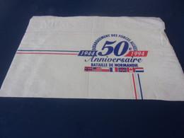 SERVIETTE PUBLICITAIRE 50 ANNIVERSAIRE  DE LA BATAILLE DE NORMANDIE  1944 1994 DEBARQUEMNT DES FORCES ALLIEES - Company Logo Napkins