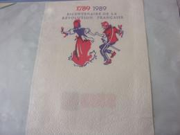 SERVIETTE PUBLICITAIRE  BICENTENAIRE DE LA REVOLUTION FRANCAISE  17 89 1989 - Company Logo Napkins