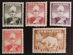 Greenland, 1938,  Part Set, MH/* - Ungebraucht