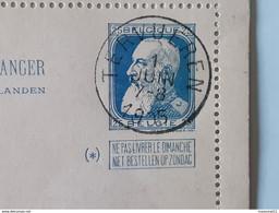 Cachet Central Gestempeld - Oblitéré Tervueren Sur Carte-lettre Pour L'étranger Du 01-06-1905 ... Lot27082019 . - Postbladen