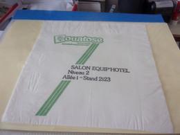 SERVIETTE PUBLICITAIRE  SALON EQUIP' HOTEL - Company Logo Napkins