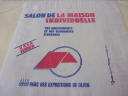 SERVIETTE PUBLICITAIRE  SALON  DE LA MAISON  INDIVIDUELLE - Company Logo Napkins