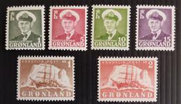 Greenland, 1950-3,  Part Set, MNH/** - Ungebraucht