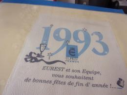 SERVIETTE PUBLICITAIRE  1993 EUREST ET SON EQUIPE VOUS SOUHAITENT DE BONNES FETES - Company Logo Napkins