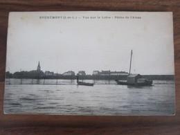 Carte Postale Bréhémont Vue Sur La Loire Pêche De L'alose - Altri Comuni