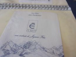 SERVIETTE PUBLICITAIRE  LA FETE DES PYRENEES EUREST VOUS SOUHAITE DE JOYEUSES FETES - Company Logo Napkins