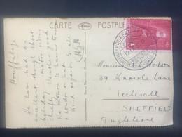 BELGIUM 1930 Postcard Houffalize Handstamp - Namur Frontside - Covers & Documents