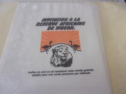SERVIETTE PUBLICITAIRE RESERVE AFRICAINE DE SIGEAN - Company Logo Napkins