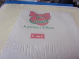 SERVIETTE PUBLICITAIRE FLUNCH JOYEUSES FETES - Company Logo Napkins