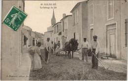 CPA ILE-de-RÉ Battage Du Blé 3801 (809574) - Ile De Ré