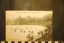 CP, 50,  TORIGNI SUR VIRE,  (Torigny-les-Villes) ,  Le Grand Etang (sur La Glace...) Patineurs , RARE - Andere Gemeenten