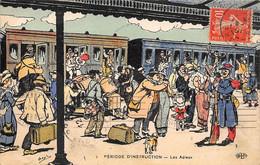 Illustrateur:  Orens    .Période D'instruction. Les Adieux A La Gare   (voir Scan) - Orens