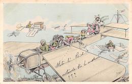 Illustrateur:  Orens    .Aviation. Humour Café Blériot    (voir Scan) - Orens