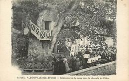 76 ALLOUVILLE BELLEFOSSE - CLEBRATION DE LA MESSE DANS LA CHAPELLE DU CHENE - Allouville-Bellefosse