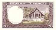 LAOS P. 11b 20 K 1963 UNC - Laos