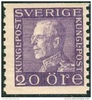 ZWEDEN 1921-36 20öre Guataf V Violet Tweezijdig PF-MNH-NEUF - Unused Stamps