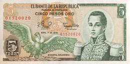 Colombia 5 Pesos Oro, P-406f (1.4.1979) - UNC - Colombia